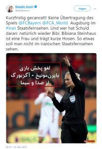 Tweet Natalie Amiri Bibiana Steinhaus Iran
