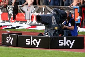 Fernsehkamera Sky Fußball