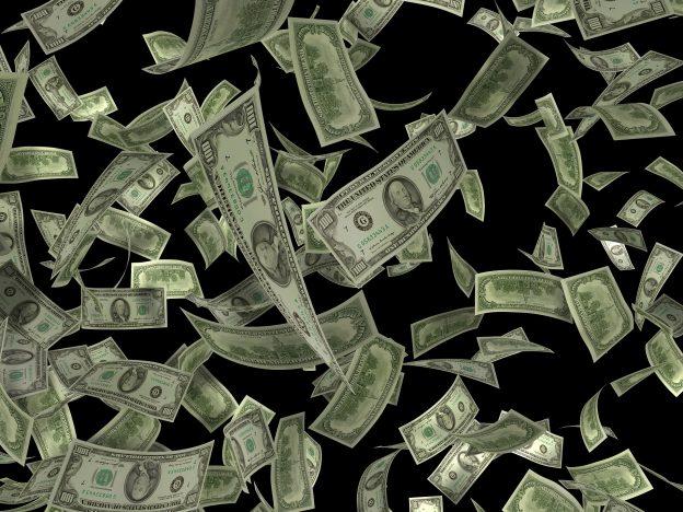 Geldregen Dollar