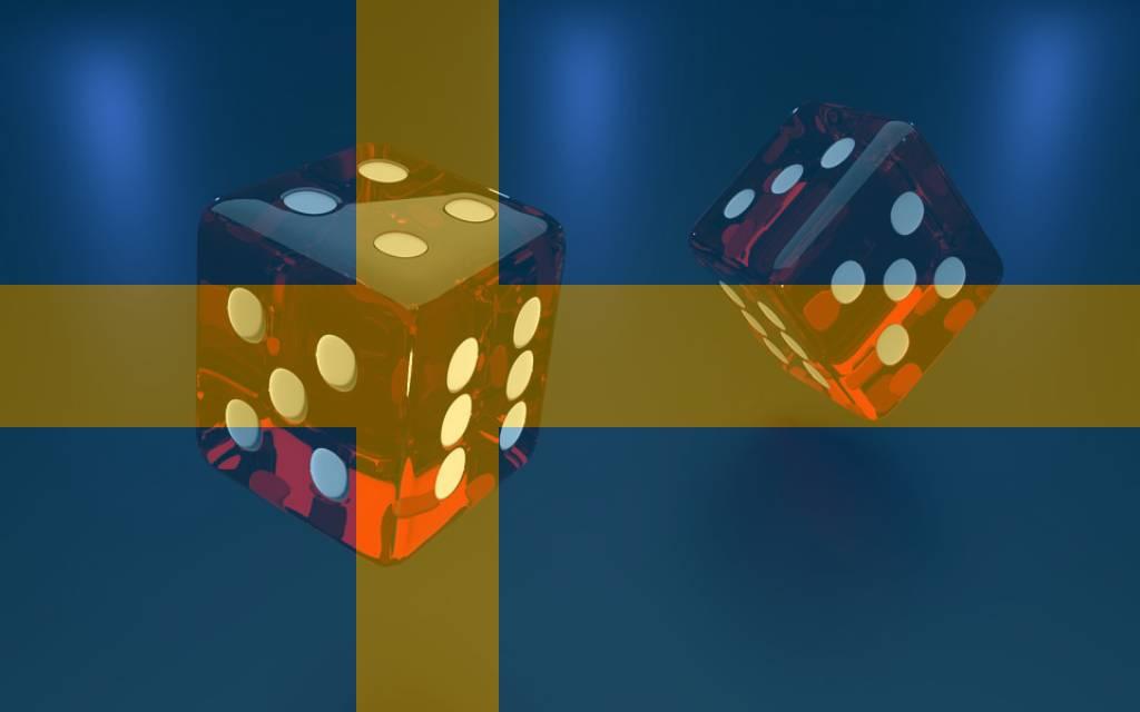 Würfel Schweden Flagge