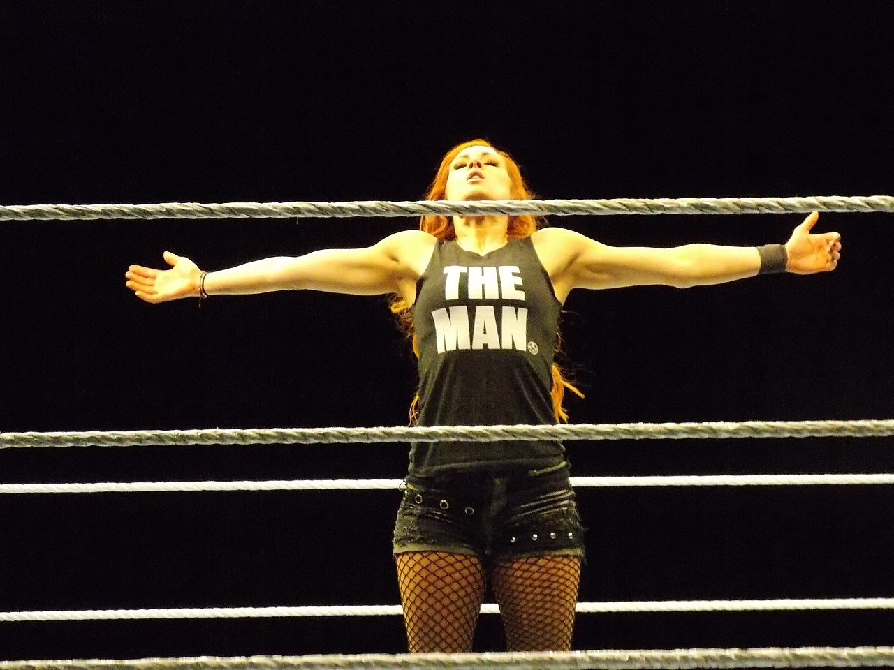"Wtestlerin Becky ""The Man"" Lynch"