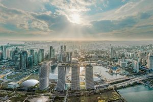 vierter Hotel-Turm Marina Bay Sands Resort
