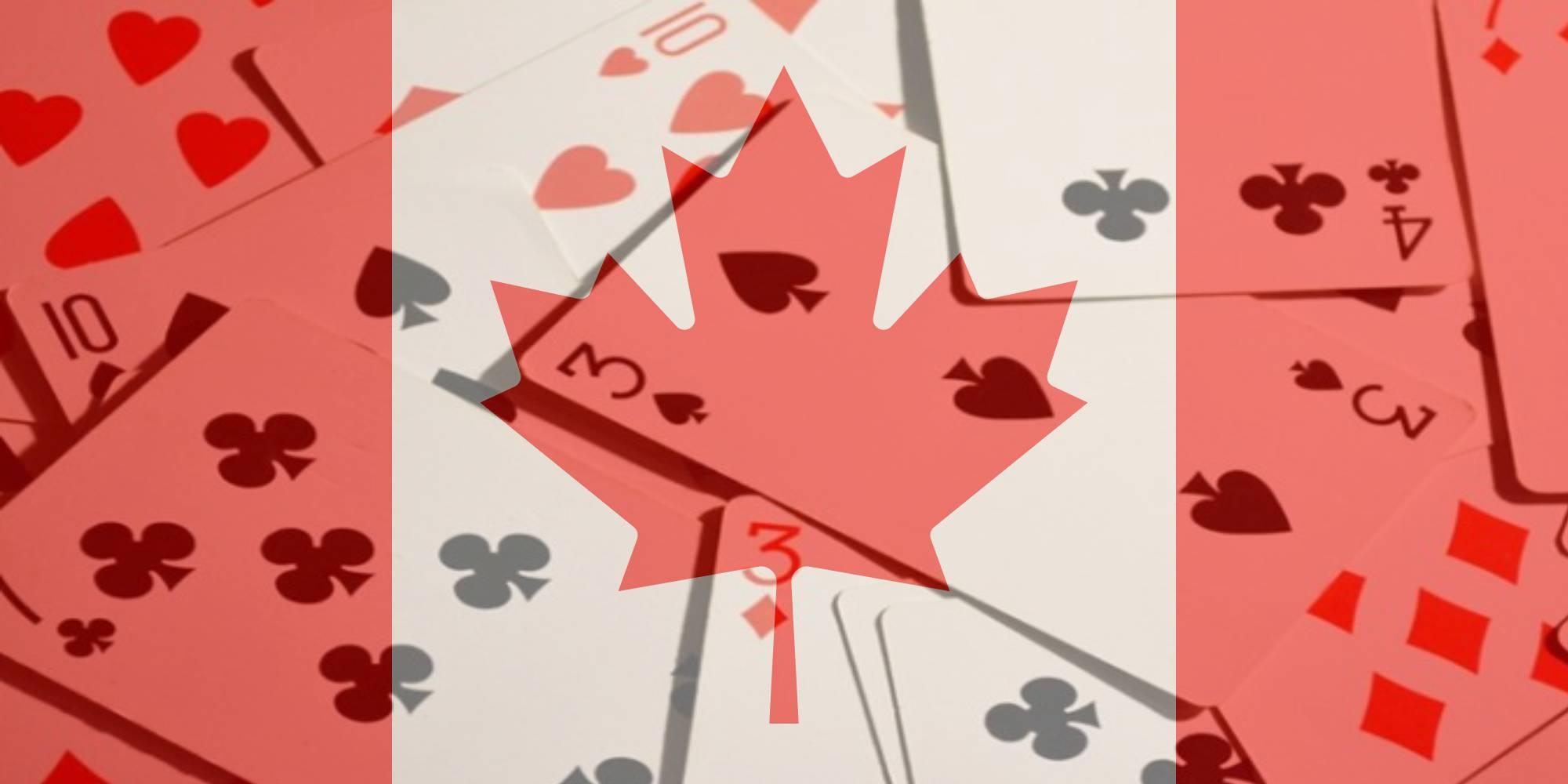 Kanada Flagge Karten