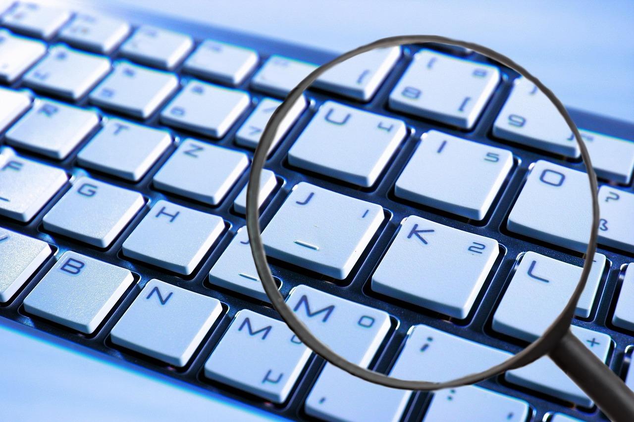 Lupe, Tastatur