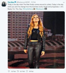 Becky Lynch Tweet