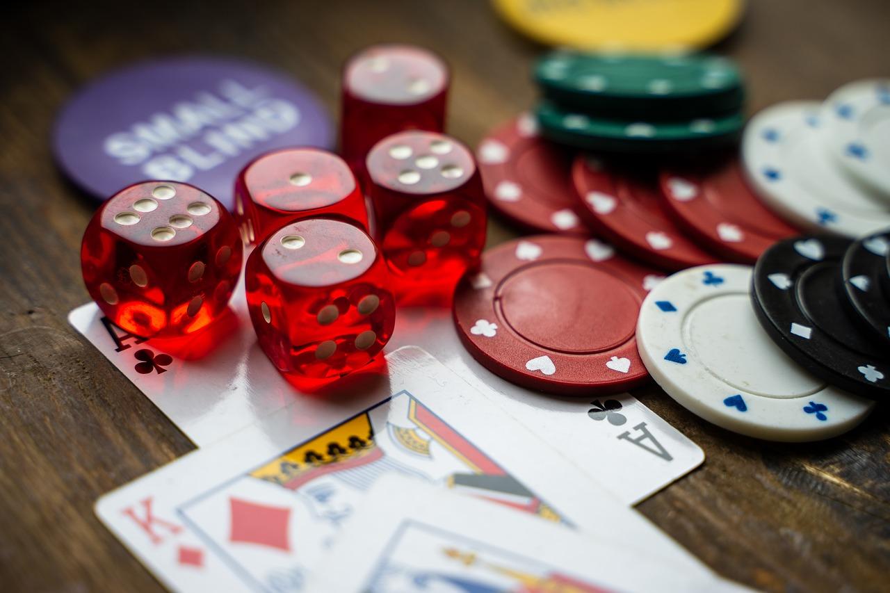 Spielkarten Würfel, Jetons