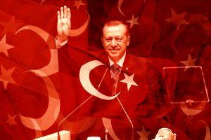 Erdogan, türkische Flagge