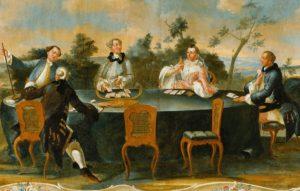 Gemälde Kartenspiel