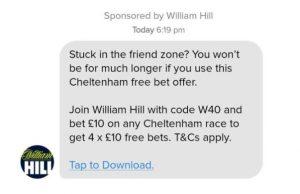 William Hill Lockt Tinder-User Zum Glücksspiel