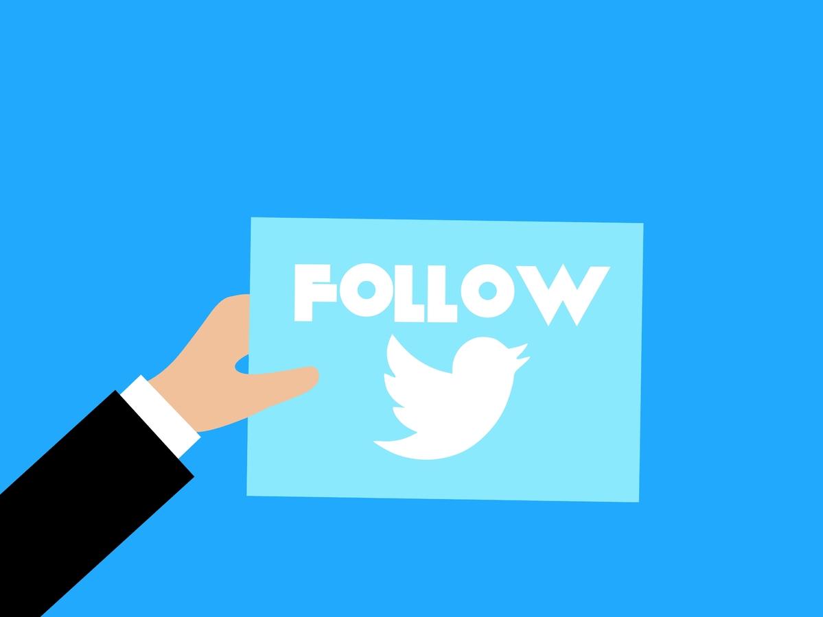Follow, Twitter, Hand