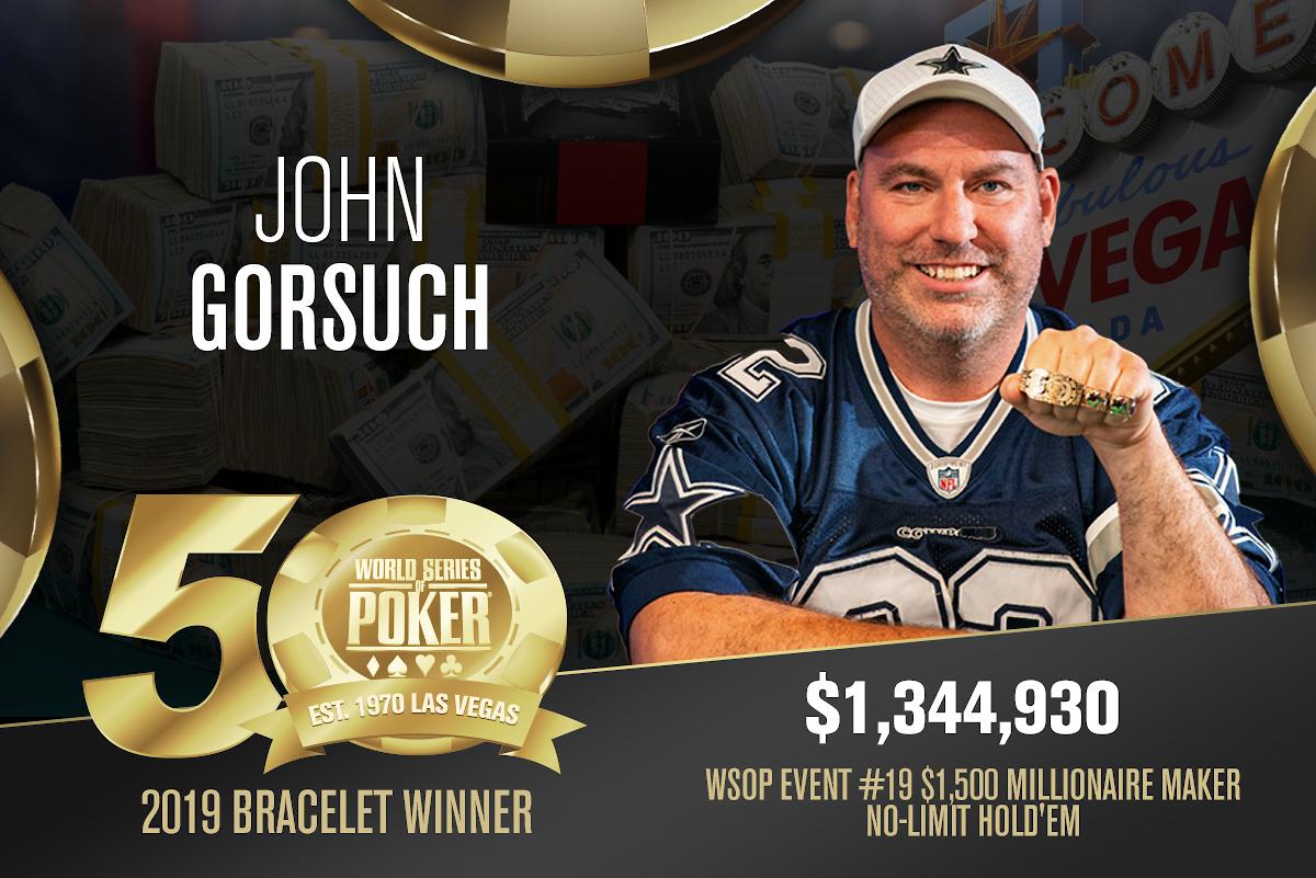 Siegerfoto von John Gorsuch mit Bracelet