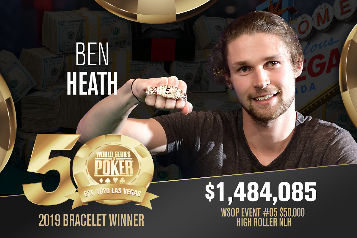 Ben Heath, WSOP 2019, Bracelet