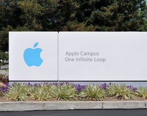 Eingang Apple-Zentrale