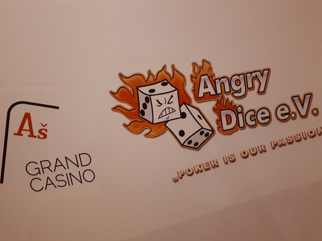 Grand Casino Aš Logo, Angry Dice Logo