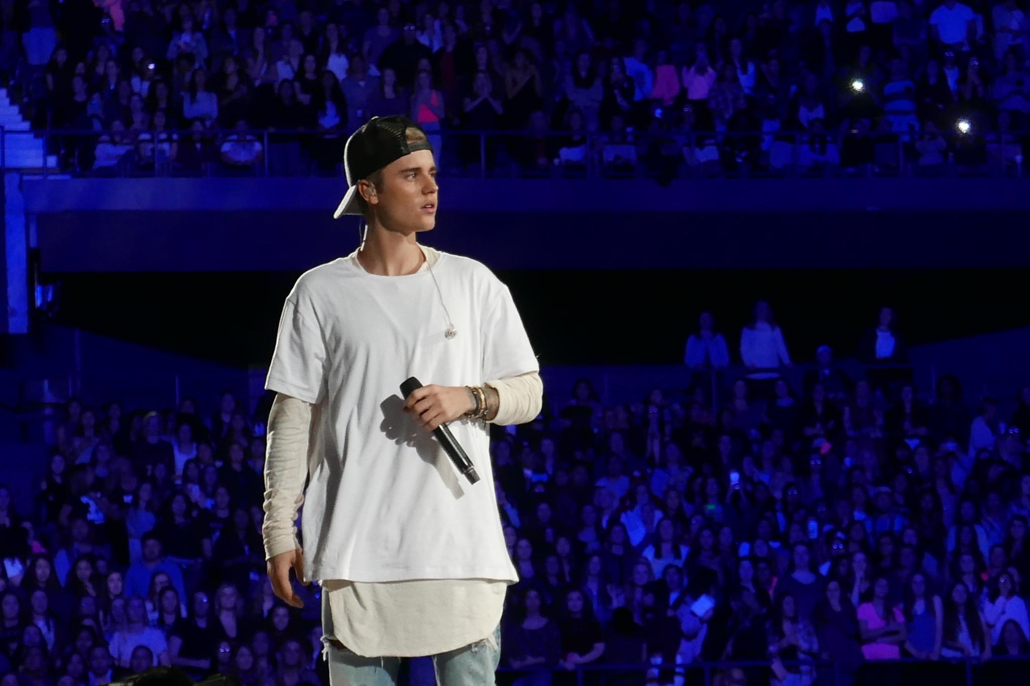 Justin Bieber auf einer Bühne