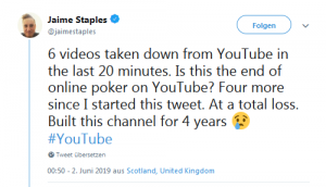Tweet von Jaime Staples auf Twitter