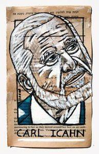 Carl Icahn im Porträt, Collage von Danor Shtruzman