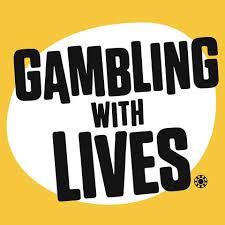 Logo von Gambling with Lives in gelb-weiß