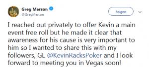 Twitter Post von Greg Merson