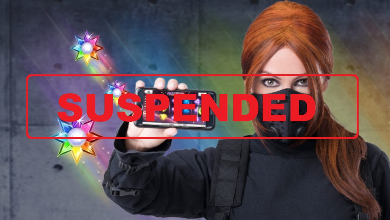 Header Ninja Casino, suspended, letter