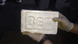 Kokainblock mit Prägung BET