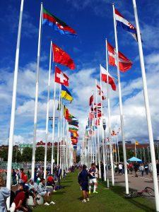 Gothia Cup internationale Flaggen