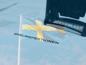 Spelinspektionen, Stempel, schwedische Flagge
