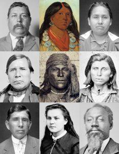 Muscogee Creek Indianer Kollage