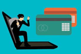 Graphik Dieb kommt aus Laptop stiehlt Kreditkarten