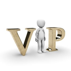 VIP mit Figur als i