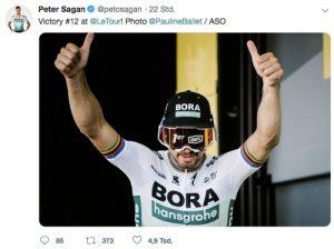 Peter Sagan Podium Sieg
