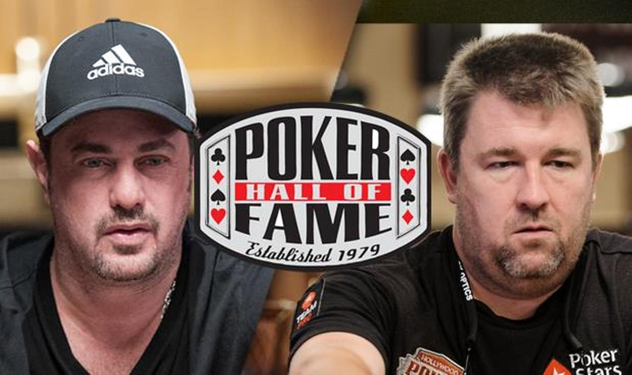 David Oppenheim, Chris Moneymaker, Poker Hall of Fame Logo