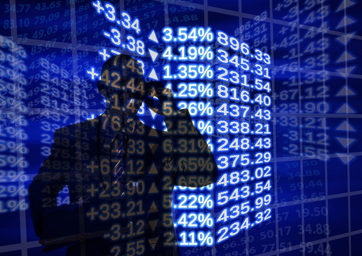 Schattenmann vor Aktienkursen