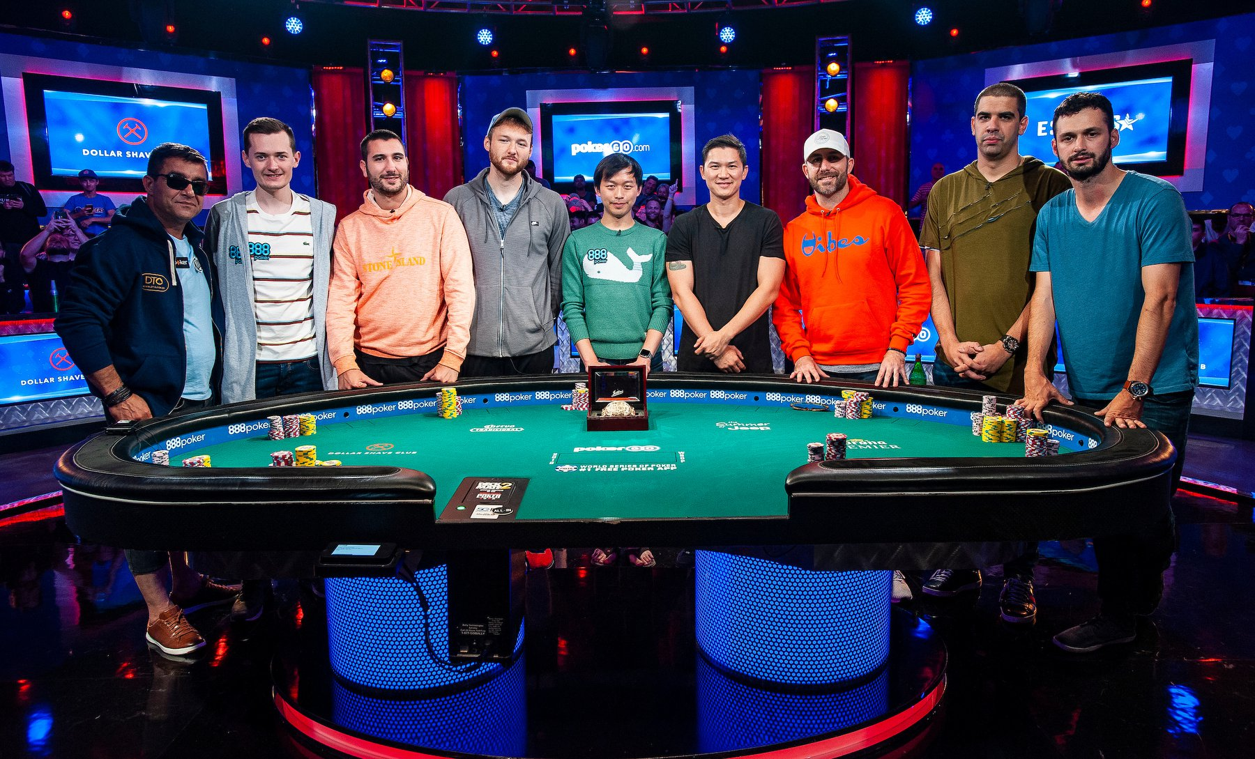 Finalisten Main Event, WSOP 2019, Pokertisch