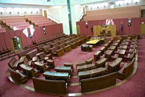 Senate Australia, Saal der australischen Regierung