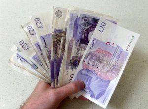 20 Pfund Geldscheine