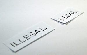 illegal legal geschrieben