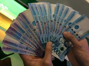 Philippinische Pesos Geldscheine