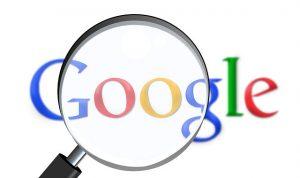 Google Logo, Lupe