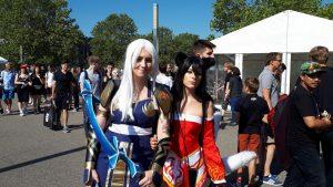 Zwei Mädchen in Verkleidung, Cosplay
