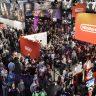Blick auf Halle 9 der Gamescom 2009