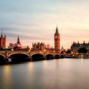 Das Parlament und die Themse in London