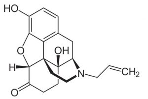 chemische Struktur von Naloxon