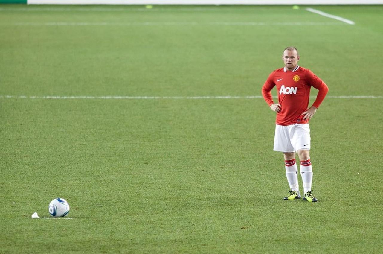Wayne Rooney auf dem Fußballfeld