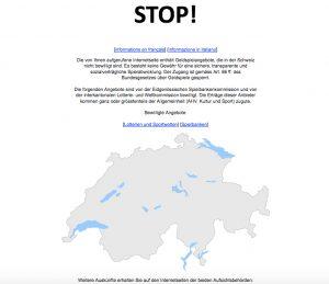 Warnseite Schweiz Glücksspiel