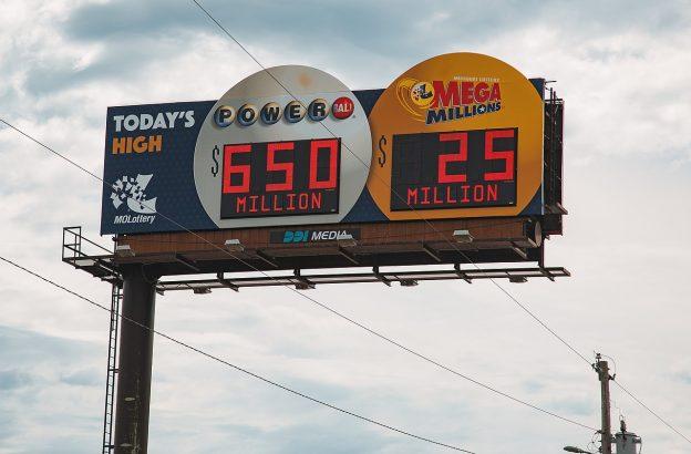 Schild Lotterien USA