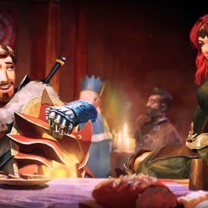 Krieger und Kriegerin, Tisch, RuneScape