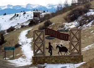 Ortsschild Crpple Creek Colorado