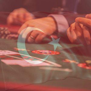 Kartenspiele türkische Flagge