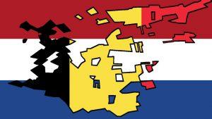 Niederlande und Belgien Flagge vermischt